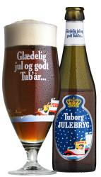 Tuborg Julebryg med glas Droplets
