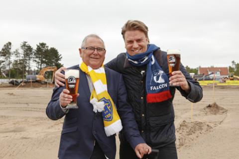 Lars Eric Nilsson, Falkenbergs FF och Johan Örtengren, Carlsberg Sverige.