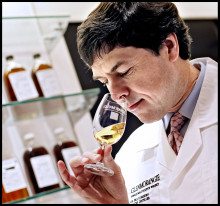 GLENMORANGIE NEW PREMISES AT THE CUBE, EDINBURGH. DR BILL LUMSDEN, HEAD OF DISTILLING & WHISKY CREATION.