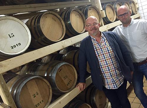 VD Maths Linell och försäljningschef Patrik Axelsson, Bergslagens Destilleri
