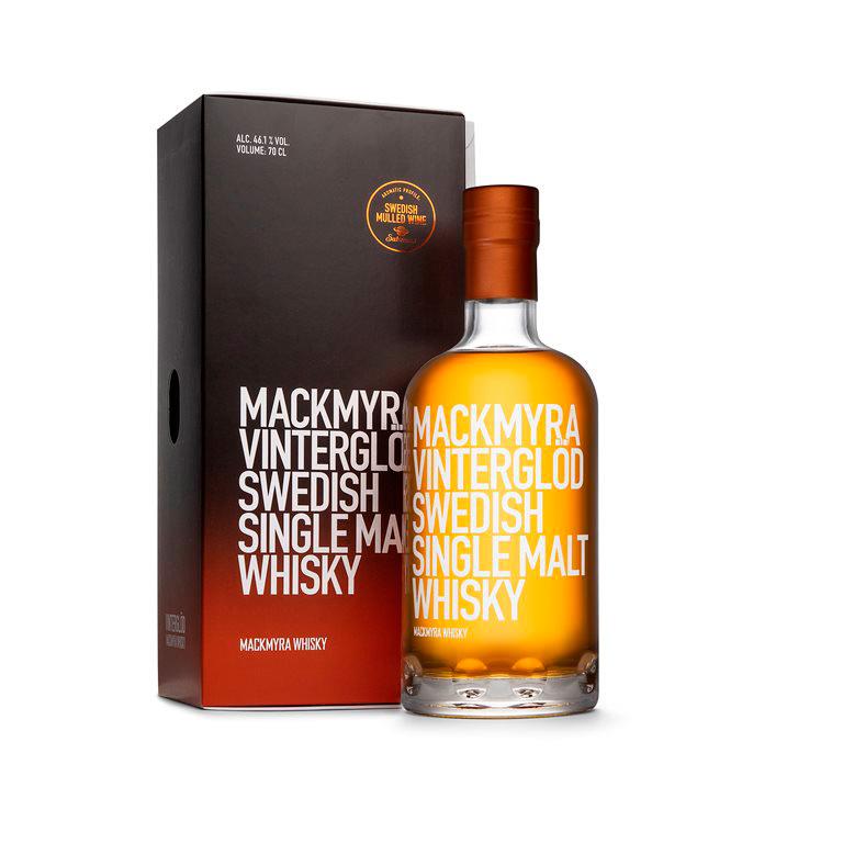 Mackmyra Vinterglöd whisky flaska med kartong