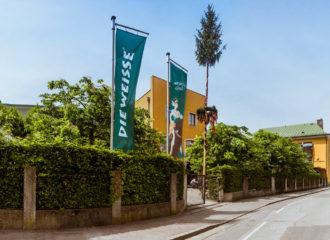 Die Weisse restaurang & Bryggeri i Salzburg