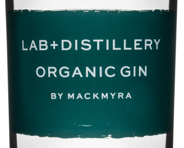 Etikett Lab Distillery Organic Gin by Mackmyra