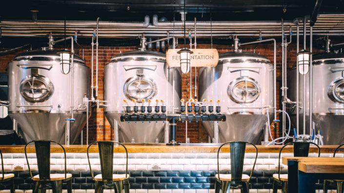 Jäskar i bryggeriet Goose Island.