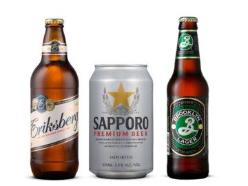 Eriksberg, Sapporo och Brooklyn Lager.