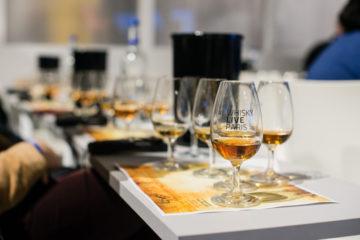 Glas med whisky från Whisky Live Paris 2018