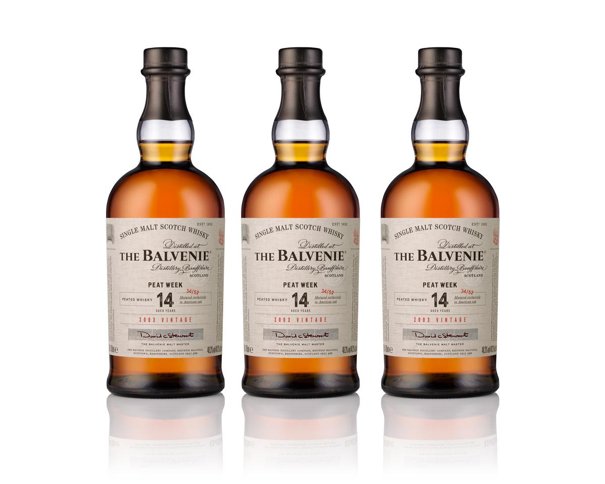 The Balvenie Peet Week 2018 (2003 vintage) i en spontant ansamlad liten trio (diskret skuggad)
