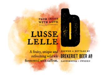 Brekeriets Lusse Lelle-etikett i utplattad form