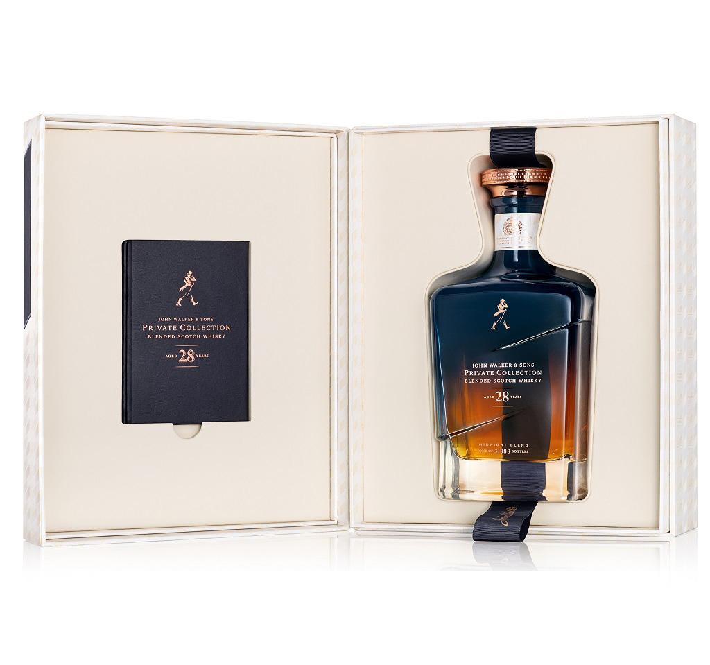 Johnnie Walker Midnight Blend innehåller 28 år gammal whisky.