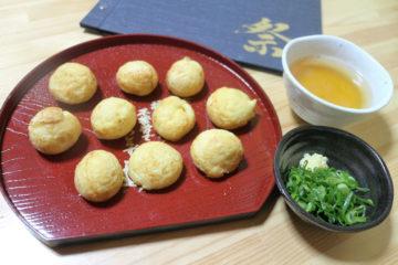 Akashiyaki, bläckfiskbitar i deg