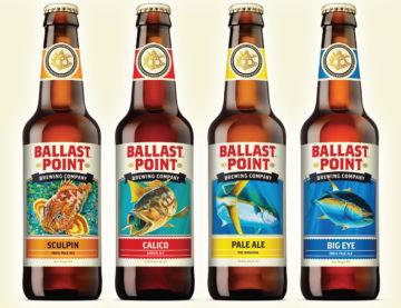 Några av Ballast point brewerys öl