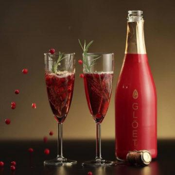 Här serveras Glöet –en blandning av glögg och mousserande vin.