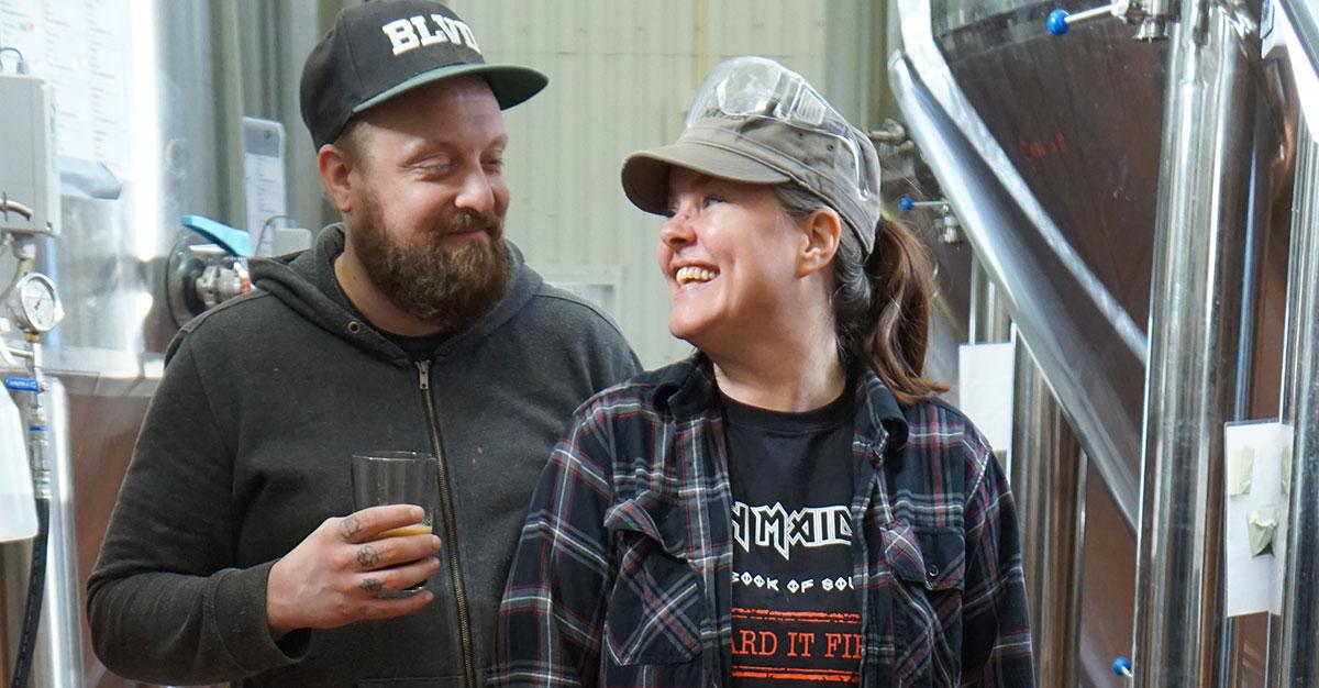 Mattias och Jenny på Frequency