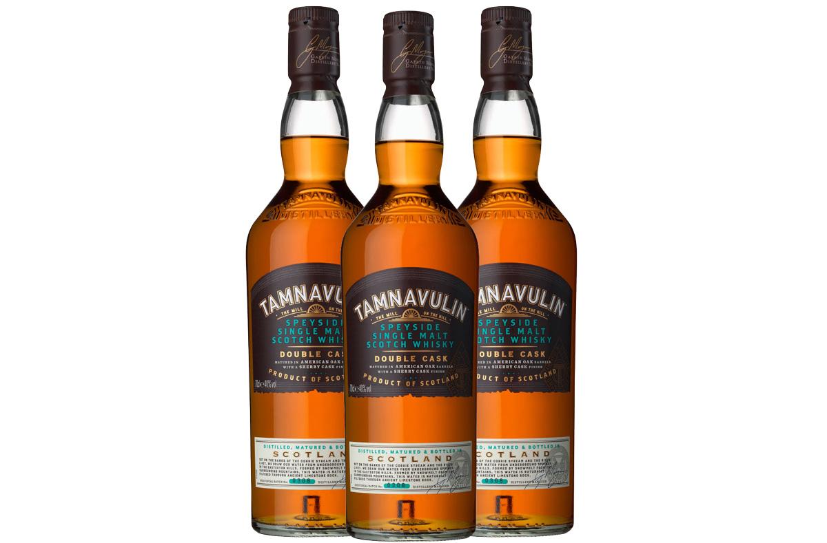 En trio med Tamnavulin-flaskor