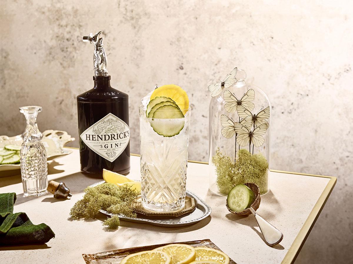 Drinken Hendrick's cucumber lemonade